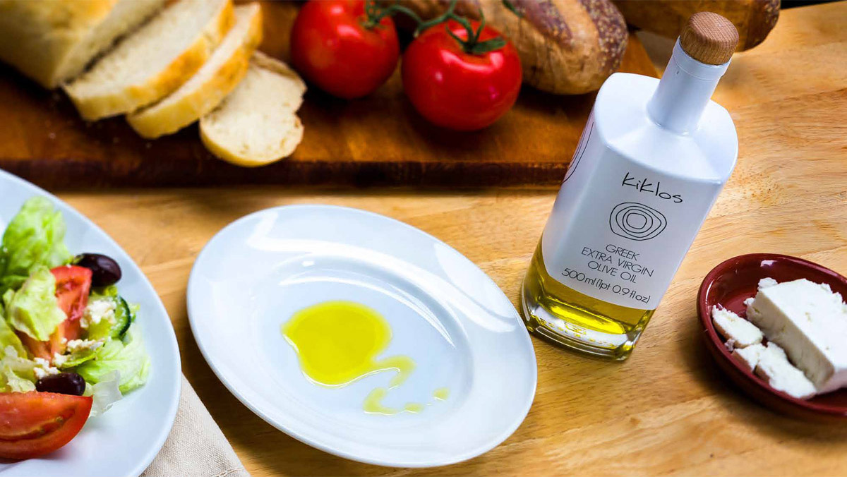 Experience the alluring aroma and distinctive bold flavor of Kiklos Greek Extra Virgin Olive Oil. A truly limited production oil, presented from our table to yours.